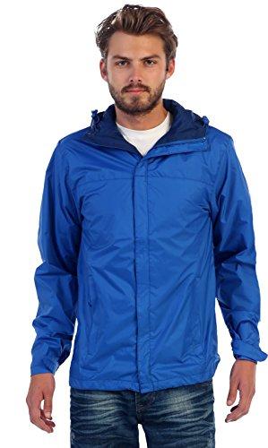 Gioberti Men's Waterproof Rain Jacket, Royal Blue, L by Gioberti