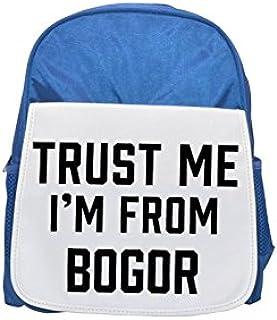 Trust me I am from Bogor printed kid's blue backpack, Cute backpacks, cute small backpacks, cute black backpack, cool black backpack, fashion backpacks, large fashion backpacks, black fashion backpack
