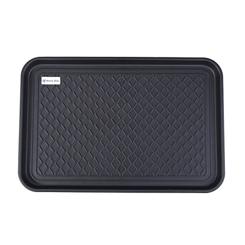 Home-Man Multi-Purpose Boot Tray Mat,Shoe Tray Mat,Pet Bowl Tray,Waterproof Trays for Indoor and Outdoor Floor Protection,24'' x 15''/Medium by Home-man