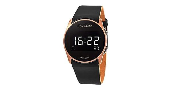Calvin Klein Reloj Digital para Hombre de Cuarzo con Correa en Caucho K5B13YC1: Amazon.es: Relojes