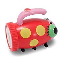 Melissa & Doug Sunny Patch Mollie Ladybug Flashlight With Easy-Grip Handle