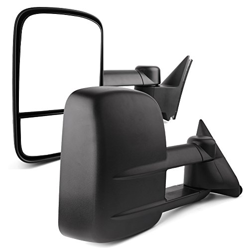 (Towing Mirrors compatible for 88-98 Chevy GMC C/K 1500 2500 3500 Pickup Pair Set Manual Extendable Side Mirrors)