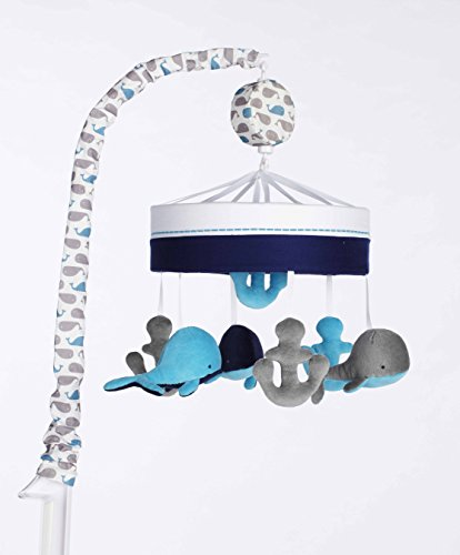 Just Born High Seas Musical Mobile, Whales Blue and Grey Anchors