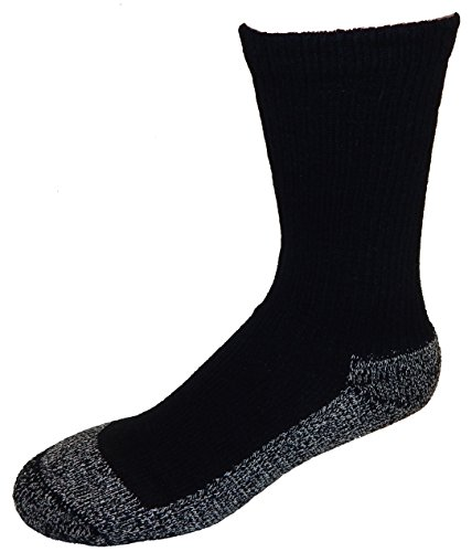 Cushees Men's BLACK (3-pack) Triple Thick Crew Socks [160] (Large)