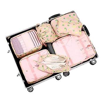 800fef047dd3 Amazon.com : Saasiiyo 7Pcs/set Women Men Travel Storage Bags Clothes ...