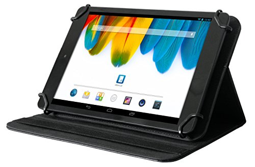 Odys Universal-Schutzhülle mit Standfunktion (für 8 Zoll Tablets, Connect 8+, Junior Tab 8 Pro, Wintab 8, Wintab Gen 8, Pro Q8, hochwertiges Kunstleder) schwarz