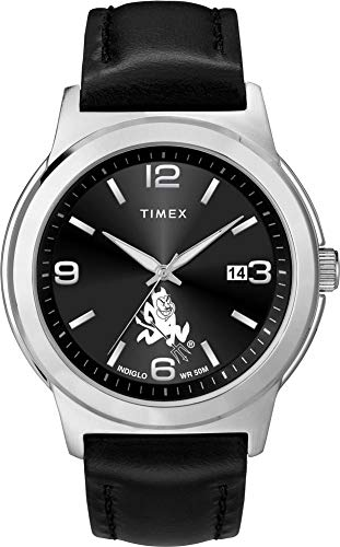 (Timex Men's Arizona State University Watch Black Leather Band Ace)