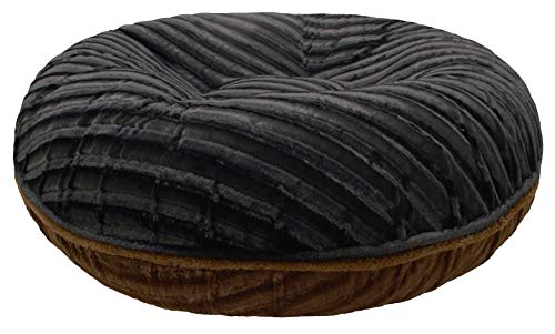 BESSIE AND BARNIE Signature Black Puma/Godiva Brown Extra Plush Faux Fur Bagel Pet/Dog Bed (Multiple Sizes) Review