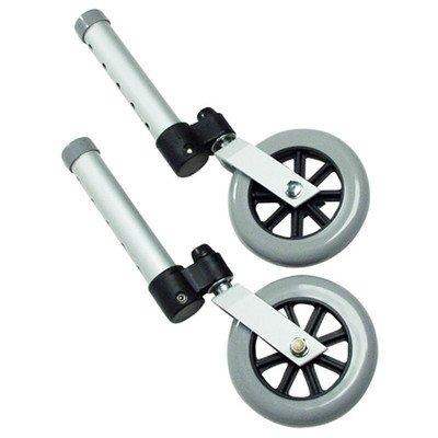 Lumex 603830A Swivel Walker Wheel, 3'' Diameter, Aluminum (Pack of 2) by Graham-Field
