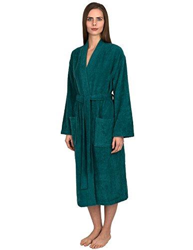 TowelSelections Women's Robe Turkish Cotton Terry Kimono Bathrobe X-Large/XX-Large Teal ()
