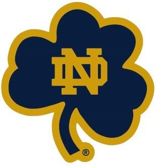 One Size WinCraft NCAA Notre Dame Fighting Irish 4x4 Perfect Cut Color Decal Team Colors