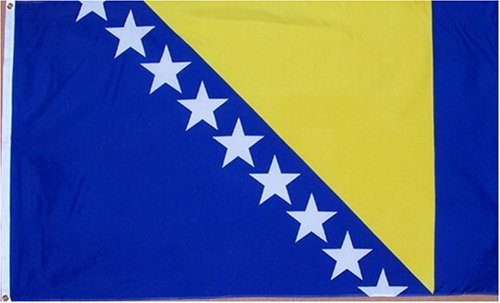 Bosnia-Herzegovina National Country Flag - 3 foot by 5 foot Polyester (New) ()