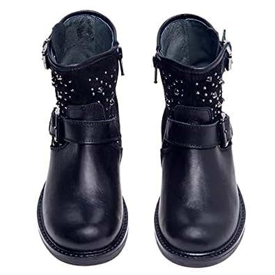 Miss Grant Black Pull On Boot For Girls