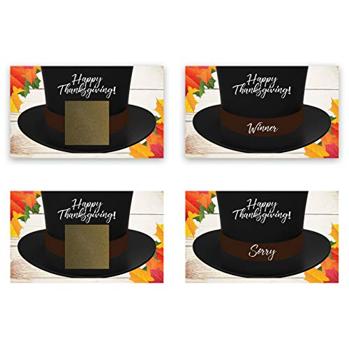 Thanksgiving Pilgrim Hat Scratch Off Game Card - 25 pack - My Scratch Offs -