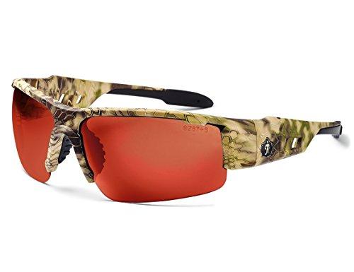 - Ergodyne Skullerz Dagr Polarized Safety Sunglasses- Kryptek Highlander Brown Camo Frame, Copper Lens
