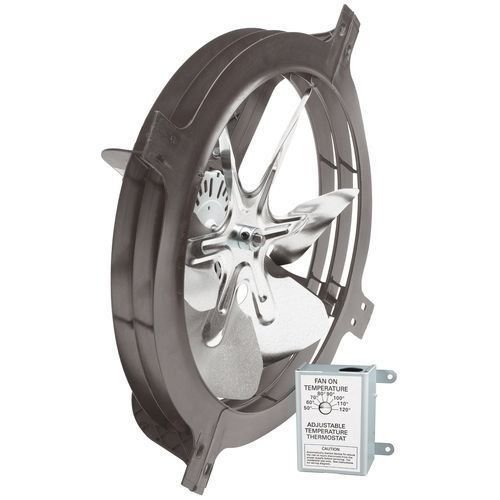 Air Vent 53319 Gable Mount Power Attic Ventilator Fan 1320 CFM up to 1900 sq ft (Air Vent 53319)