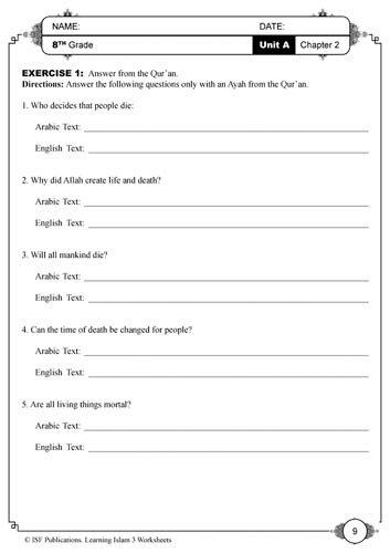 Learning Islam Worksheets: Level 3 (8th Grade): Rula Salahat, and ...