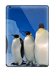 AnnDavidson Case Cover Protector Specially Made For Ipad Air Fantastic Emperor Penguins Wallpaper