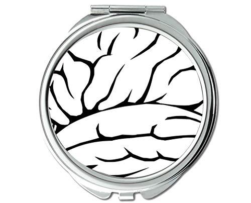 Mirror,Round Mirror,Concept skull health concept,pocket mirror,1 X 11X -