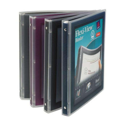 """Avery R) Flexi-View Binder, 1/2"""" Ring, Assorted Colors"""