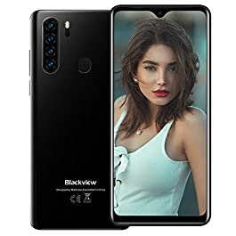 Mobile Phone Blackview A80 Plus Android 10 Octa-Core 4GB+64GB Smartphone, 6.49″ HD+ Waterdrop Screen 8MP Front Camera + 13MP Quad Rear Camera 4680mAh Battery Dual 4G Unlocked Phone NFC GPS