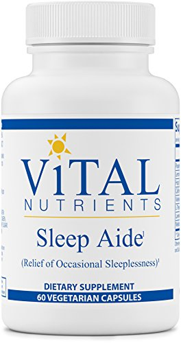 Vital Nutrients - Sleep Aide - For Relief of Occasional Sleeplessness - 60 Capsules