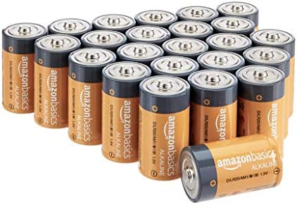 AmazonFundamentals D Cell 1.5 Volt Everyday Alkaline Batteries - Pack of 24