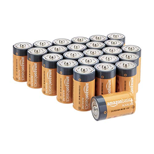 Amazonbasics D Cell 1 5 Volt Everyday Alkaline Batteries Pack Of 24 Appearance May Vary