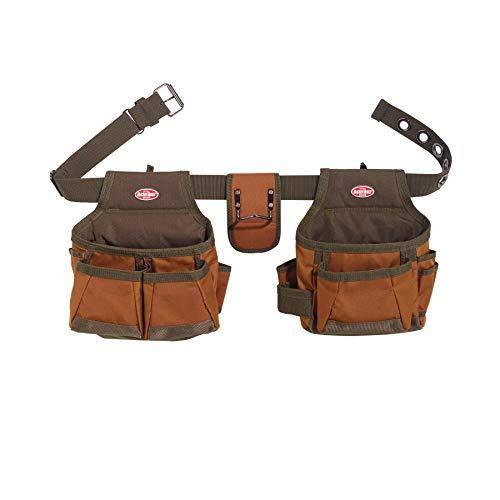 Bucket Boss 2 Bag Tool Belt in Brown, 50200 (Best Tool Belt For Roofing)