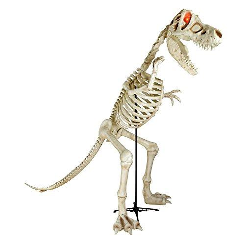 9 ft. Standing Skeleton T-Rex Dinosaur with LED Illuminated Eyes - Tyrannosaurus Rex Skeleton Model
