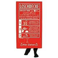 Löschdecke 1m x 1m nach DIN EN 1869 in Hartplastik Box auch für Fettbrände geeignet
