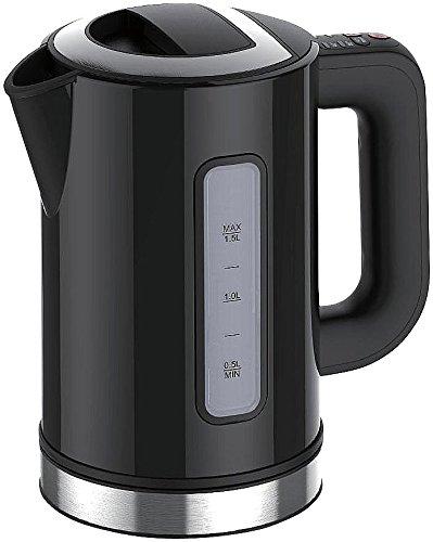 Rosenstein & Söhne Design-Wasserkocher WSK-250.des, 2500W, 1,5L, Temperaturwahl, schwarz