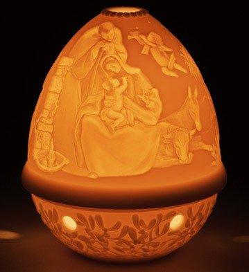 Lladro Figurines Christmas (Lladro Nativity Christmas Lithophane Votive Light)