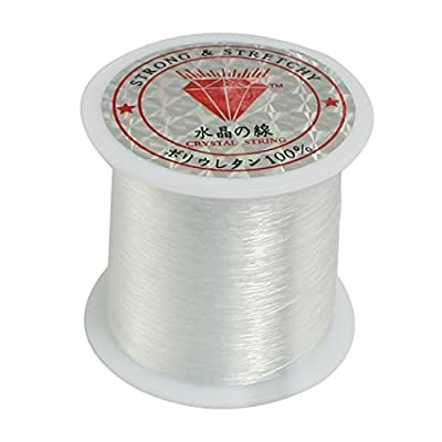 uxcell 0.2mm Diameter Clear Nylon Fish Fishing Line Spool Beading String from uxcell