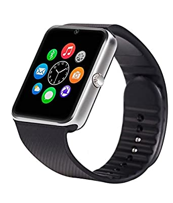 Amazingforless Bluetooth Touch Screen Smart Wrist Watch Phone with Camera -Silver