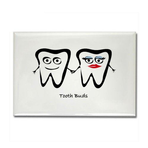 CafePress – tooth buds Magnets – Rectangle Magnet, 2″x3″ Refrigerator Magnet