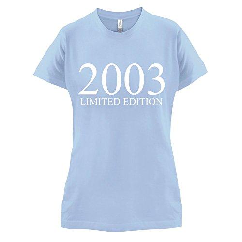 2003 Limierte Auflage / Limited Edition - 14. Geburtstag - Damen T-Shirt - Himmelblau - M