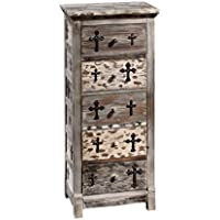 Design Toscano Gothic Sanctuary Five Drawer Chest