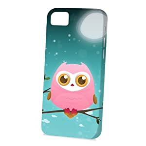 Case Fun Apple iPhone 5C Case - Vogue Version - 3D Full Wrap - Pink Owl by DevilleART