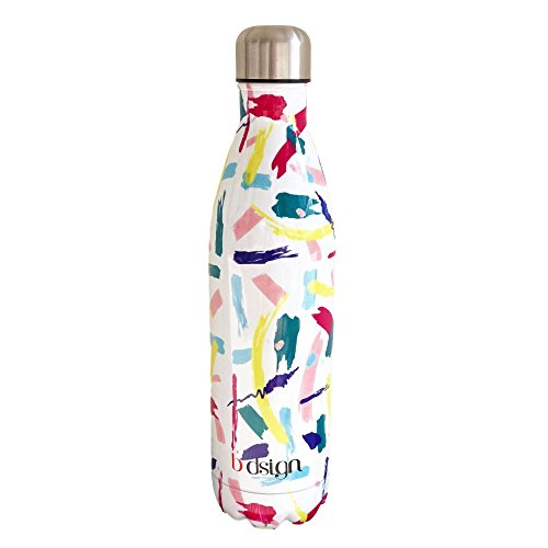 Aluminium Sports Bottle (25oz Double Wall Vacuum Insulated Stainless Steel Water Bottle Design Perfect Thermos for Outdoor Sports, Camping, Hiking, Cycling, Beach, Yoga. Cold (36hrs) and Hot (24hrs). Trademark.)
