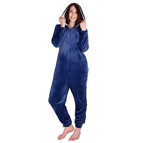 Cherokee Women's Onesie Sleepwear, Blue Depths, L