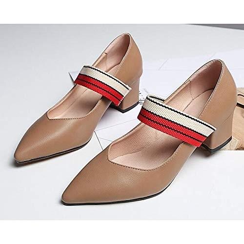 Chunky Heel ZHZNVX Fall amp; Black Spring Almond Women's Heels Synthetics Shoes Pump Black Comfort Basic 4wAH4q
