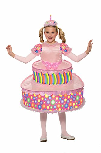 Forum Little Girl's Cute Birthday Party Cake Costume Dress Child Pink Md Childrens Costume, Pink, Medium ()