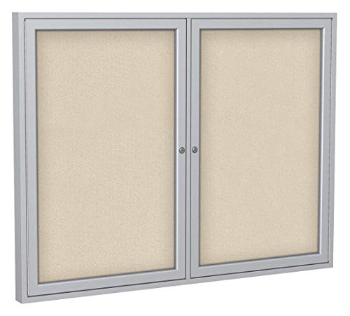 (Ghent Push-Pin Indoor Enclosed Bulletin Board, Fabric/Fiberboard, 36
