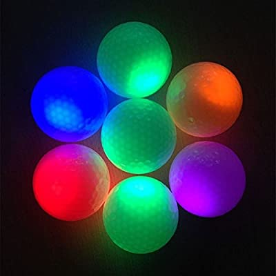 IED Electronic Golf Balls Colorful Changing in Dark Practice Training Fluorescence Balls for Indoor Sport Funny