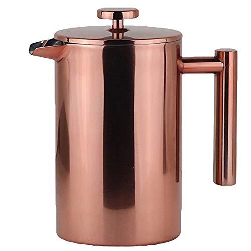 Cafetera Francesa Una pequeña cantidad de de mano de bronce exterior del hogar doble capa de acero inoxidable Prensa Pot…