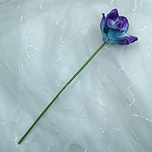 Lily Garden Artificial Flowers Purple Turquoise Orchid Stem Real Touch Flowers Set of 12 Stems 2