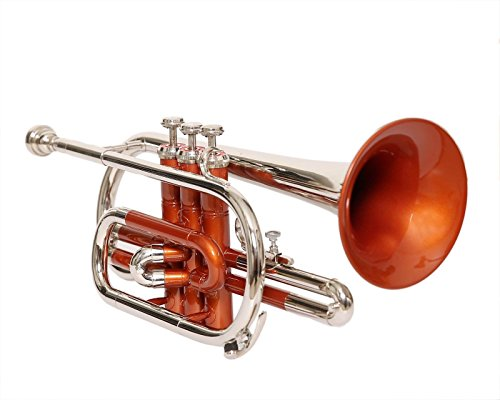 Bb CORNET COPPER COLOR + NICKEL SILVER WITH FREE CASE AND MOUTHPIECE by SAI MUSICAL