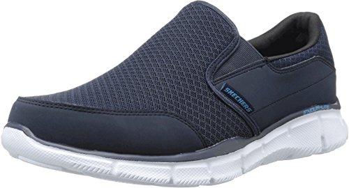 - Skechers Men's Equalizer Persistent Slip-On Sneaker, Navy, 7.5 M US