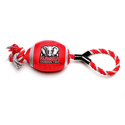 Pet Goods Alabama Crimson Tide Football with Rope Toy by Pet Goods